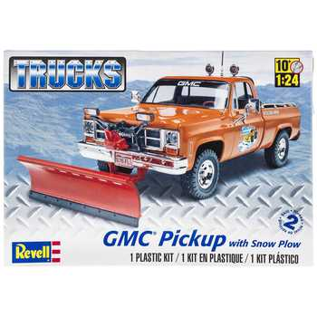 GMC Pickup with Snow Plow Model Kit